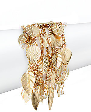 Saks Fifth Avenue Chain Leaf Charm Bracelet
