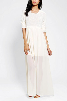 Urban Outfitters Pins And Needles Hooded Maxi Dress