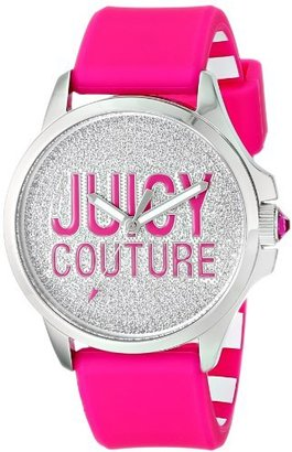 Juicy Couture Women's 1901144 Jetsetter Stainless Steel Watch with Hot Pink Silicone Band $135 thestylecure.com