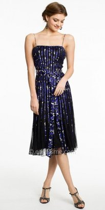 JS Collection Spaghetti Strap Piped Floral Print Cocktail Dresses