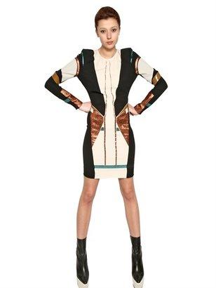 Felipe Oliveira Baptista Heat Bonded Silk Crepe Jersey Dress