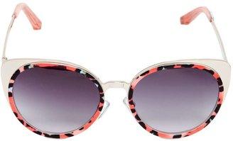 Acetate & Metal Cat Eye Sunglasses