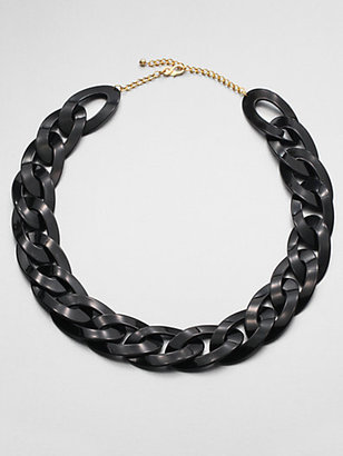 Kenneth Jay Lane Chunky Link Necklace/Black