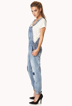 Forever 21 Prairie Patchwork Overalls
