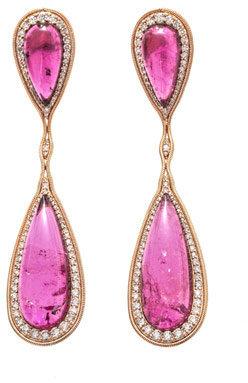 Fernando Jorge Rubellite, diamond & rose gold earrings