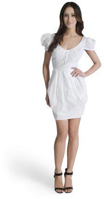 Mark & James by Badgley Mischka Cotton Puff Sleeve Dress