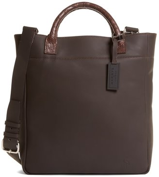 Brooks Brothers Harrys Of London Alligator Trim Shoulder Strap Tote Bag