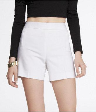 Express 4 1/2 Inch High Waist Side Zip Shorts