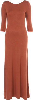 Topshop 3/4 Sleeve Scoop Back Maxi