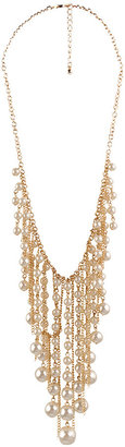 Forever 21 Faux Pearl Bib Necklace
