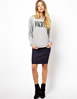 Asos Pencil Skirt In High Shine