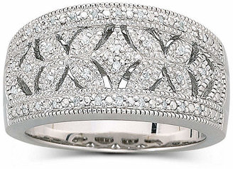 FINE JEWELRY Vintage Inspirations 1/10 CT. T.W. Diamond Vintage Ring Sterling Silver