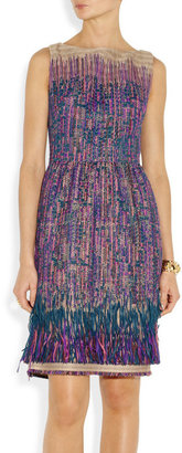 Lela Rose Fringed tweed dress