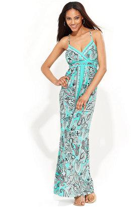 INC International Concepts Dress, Spaghetti-Strap Exotic-Print Maxi