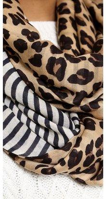 Tory Burch Ocelot Leopard Infinity Scarf