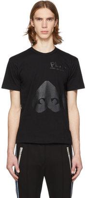 Comme des Garcons Black Upside Down Heart T-Shirt