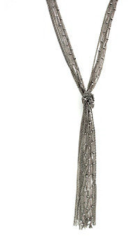 BCBGeneration BCBGenerationTM Silvertone Multi-Strand Chain Fringe Y-Necklace