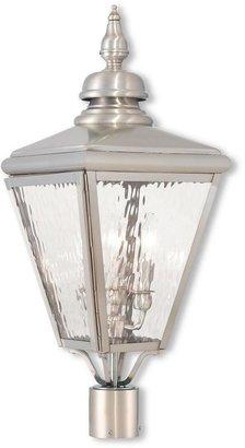 Livex Lighting Cambridge 3-Light Outdoor Brushed Nickel Post Light