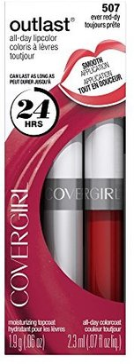 COVERGIRL Outlast All-Day Moisturizing Lip Color, Ever Red-dy .13 oz (4.2 g) $8.99 thestylecure.com