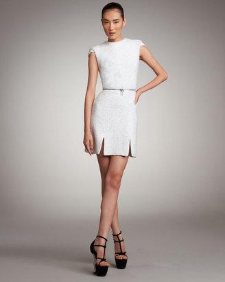 Alexander McQueen Zip-Waist Tweed Dress