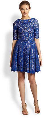 Monique Lhuillier Lace Swing Dress