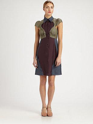Carven Silk Colorblock Dress