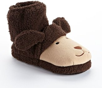 Pink Cookie dog bootie slippers - girls