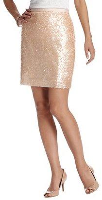 LOFT Sequin Georgette Skirt