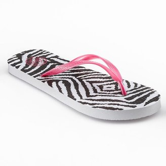 So ® zori zebra flip-flops - women