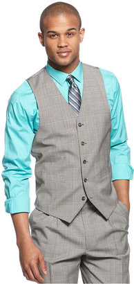Sean John Vest, Black and White Plaid