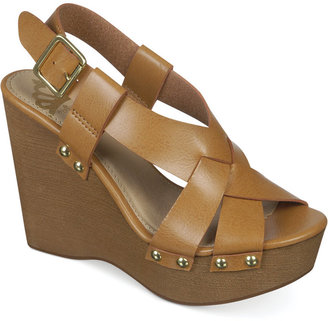 Fergalicious Lucy Platform Wedge Sandals