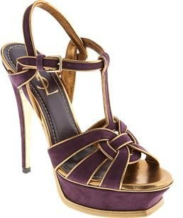 Yves Saint Laurent Tribute Sandal- Purple