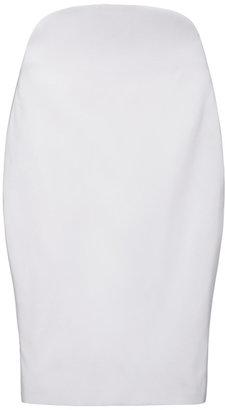 Jean Pierre Azede Jean-Pierre Silk Faille Rounded High Waist Skirt
