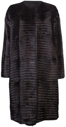 Lanvin Ribbed fur coat