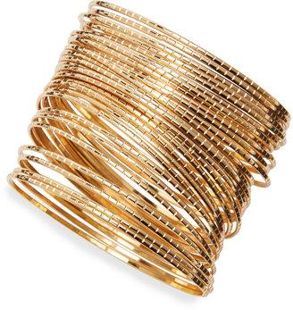 Jules Smith Designs Gold-Plated Ridged Bangles (Stylist Pick!)