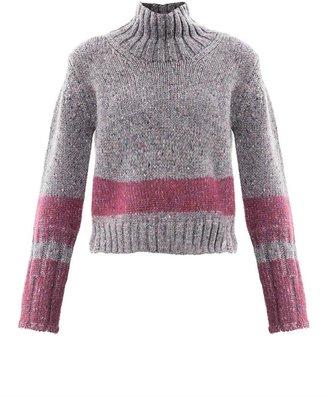Jil Sander Needle-punch stripe mélange sweater