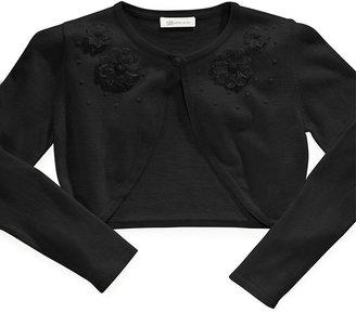 Bonnie Jean Kids Sweater, Little Girls Flower Cardigan