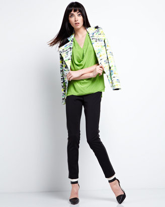 Yigal Azrouel Cut25 by Long Sleeve Printed Jacket