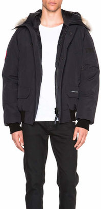 Canada Goose Chilliwack Bomber With Coyote Fur Trim