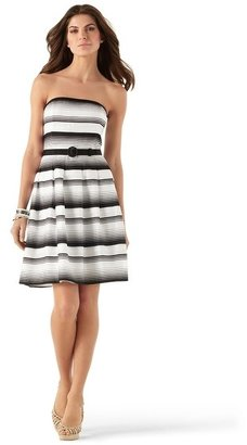 White House Black Market Our Mod-Stripe Fit & Flare Dress