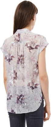 Rebecca Taylor Short Sleeve Floral Print Top