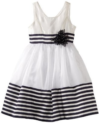 Bonnie Jean Girls 7-16 Border Stripe Dress