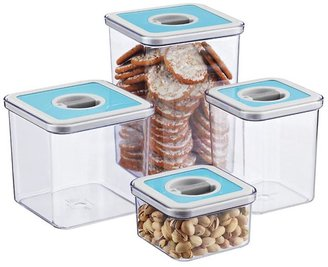 Container Store 3.7 qt. Square Perfect Seal™ Canister Teal Lid