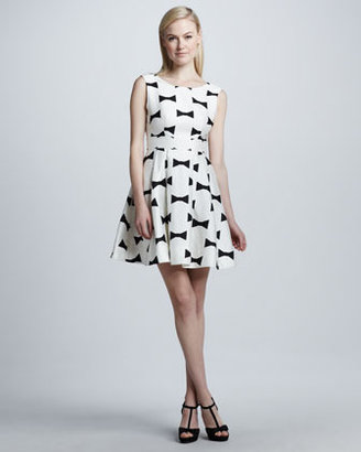 Kate Spade Marilyn Bow-Printed Low-Back Dress