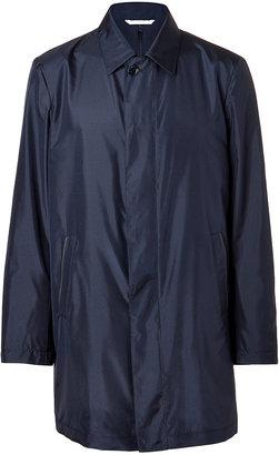 Brioni Navy Silk Caban Jacket