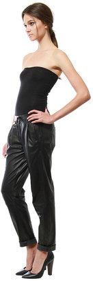 Cynthia Vincent Leather Drawstring Pant