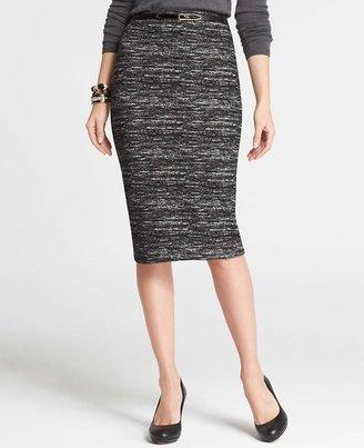 Ann Taylor Tweed Print Pencil Skirt