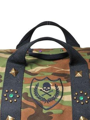 Hydrogen Studded Camouflage Cotton Canvas Bag