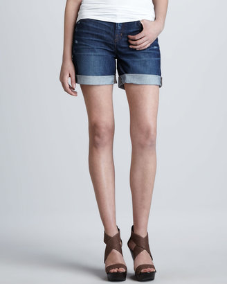 J Brand Jeans Slouchy Synthesis Cuffed Denim Shorts