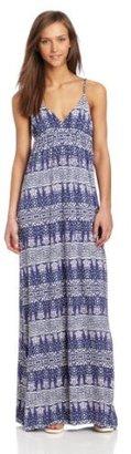 LAmade Women's Heart Print Maxi Dress